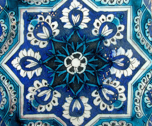 blue, pattern, and art image