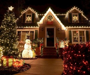 christmas, light, and decoration image