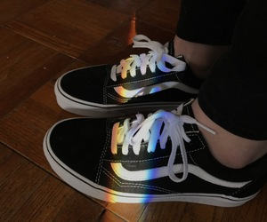 aesthetic, black, and rainbow image