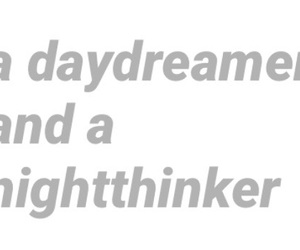 daydreaming, fonts, and night image