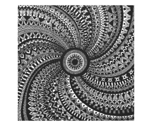 art, blackandwhite, and mandala image