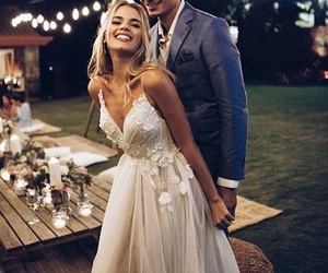 wedding, couple, and goals image