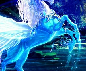 unicorn and 💙 image