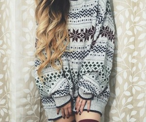 winter, hair, and sweater image