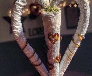 weed, heart, and joint image
