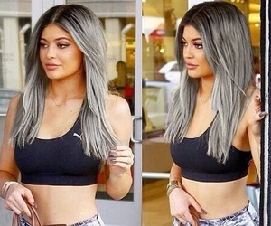 kylie jenner, hair, and grey hair image