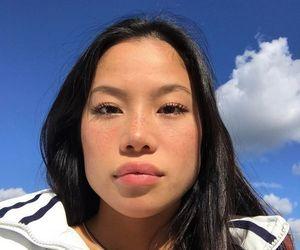 asian, girl, and sky image
