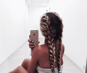 braids, hairstyle, and lace image