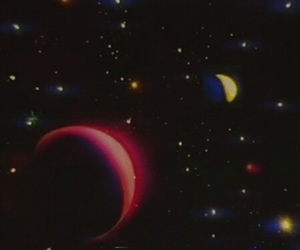 colors, moon, and star image