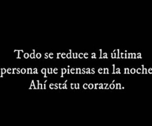 amor, frases, and Noche image