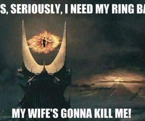 LOTR, ring, and sauron image