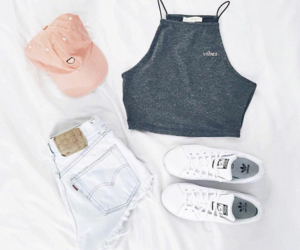 adidas, peach, and ootd image