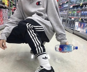 adidas, outfit, and champion image