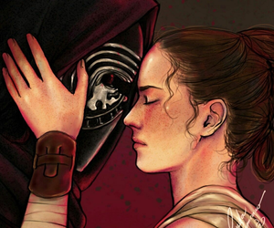 star wars, reylo, and fan art image