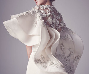 dress, haute couture, and wedding image