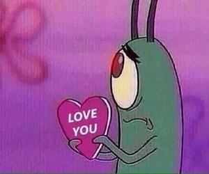 heart, meme, and plankton image