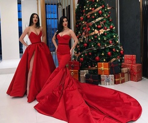 dress, Couture, and merry christmas image