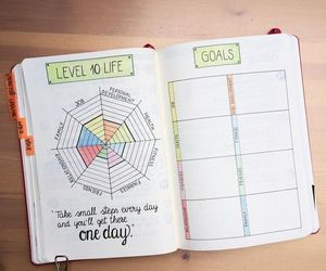 goals, journal, and organize image