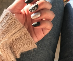 cozy, nails, and winter image