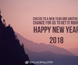happynewyear and 2018 image