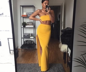 yellow and clothes image