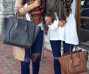bags, scarfs, and cute image