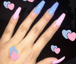babe, blue, and hearts image