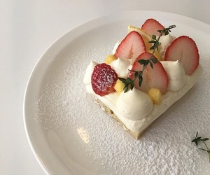 strawberry, cake, and cream image