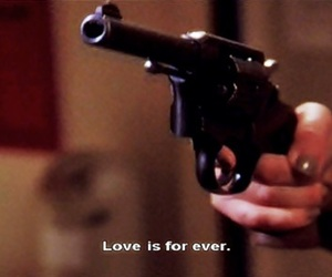 love, gun, and forever image