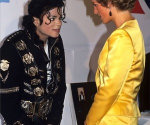 michael jackson, icon, and princess diana image