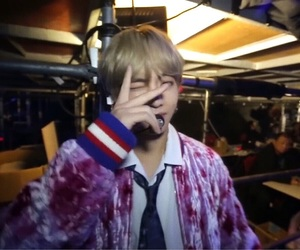bts, v, and low quality image