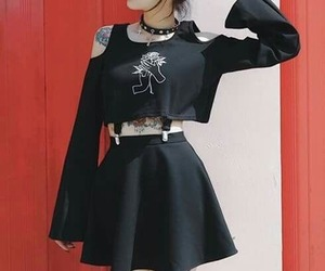 style, black, and goth image