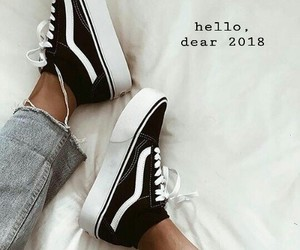 fashion, happy new year, and vans image