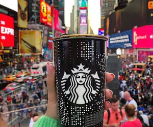 coffee, new york, and travel image
