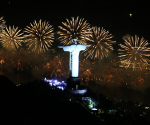 fireworks and rio de janeiro image