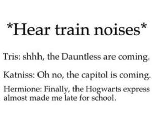 harry potter, train, and divergent image