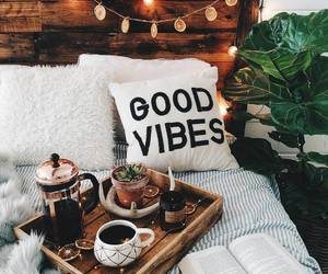 bedroom, coffee, and cozy image