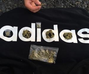 adidas, weed, and marijuana image