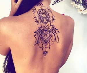 beautiful, black ink, and floral image