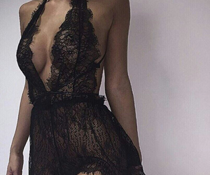lingerie, black, and sexy image