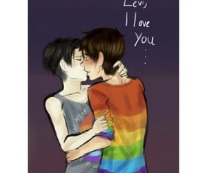 gay, attack on titan, and ereri image