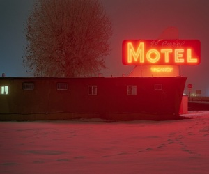 concept, motel, and night image