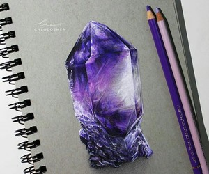 drawing, art, and crystal image