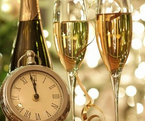 new year, champagne, and party image