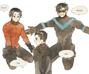 dick, tim, and batfamily image