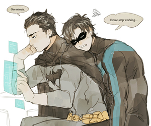 dick, batfamily, and bruch w image