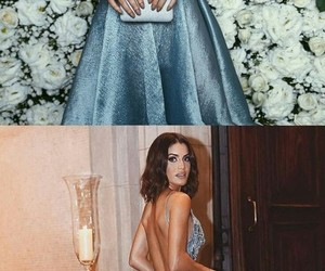 blue gown, beautiful, and dress image