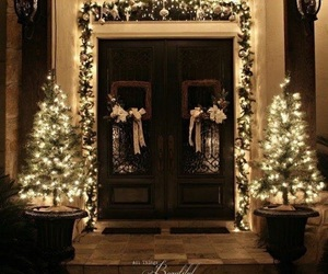 christmas, light, and decoration image