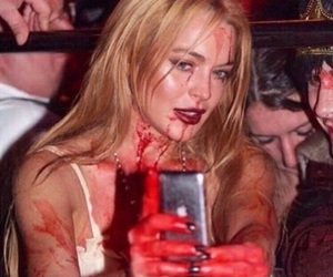 lindsay lohan, aesthetic, and blood image