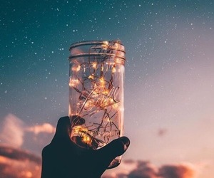 light, sky, and stars image